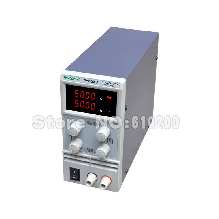 Фотография Free shipping KPS605DF 0-60V/0-5A 110V-230V 0.1V/0.001A EU LED Digital Adjustable Switch DC Power Supply mA display