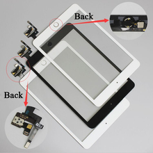 10 pcs/lot Free DHL for iPad mini 3 Touch Screen Digitizer Assembly with Home Button & Home Flex Cable+ IC Connector(China (Mainland))