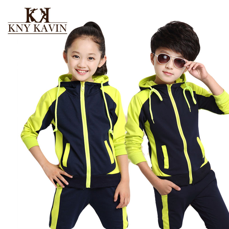 Children Autumn Clothing Set Girl Fashion Sports Clothes High quality Unisex Kids Clothing Set Casual Fight color sets KS387(China (Mainland))