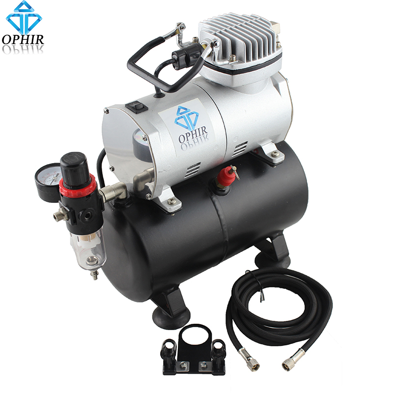 Ophir portable mini air compressor with tank for hobby for Air compressor for auto painting