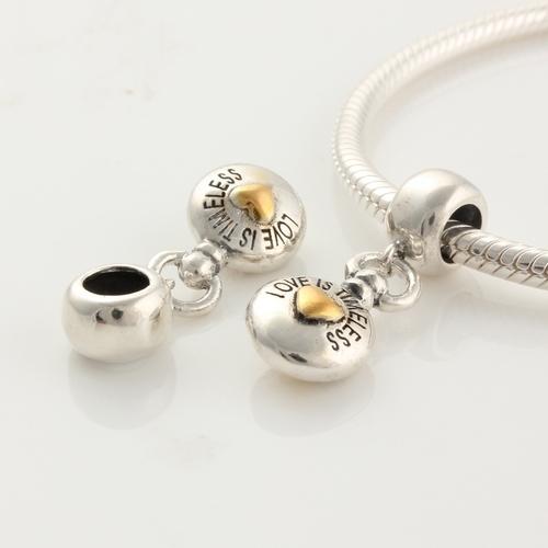 Подходит пандора подвески браслет DIY аутентичные 925 стерлингового серебра мотаться бусины любовь вы вне времени женщины ювелирные изделия делая прямая поставка
