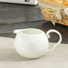 Sale exquisite White Ceramic Milk Pot Cute Craft Butterfly Pattern Milk Pot Cup Kitchen Drinkware Tea Accessories