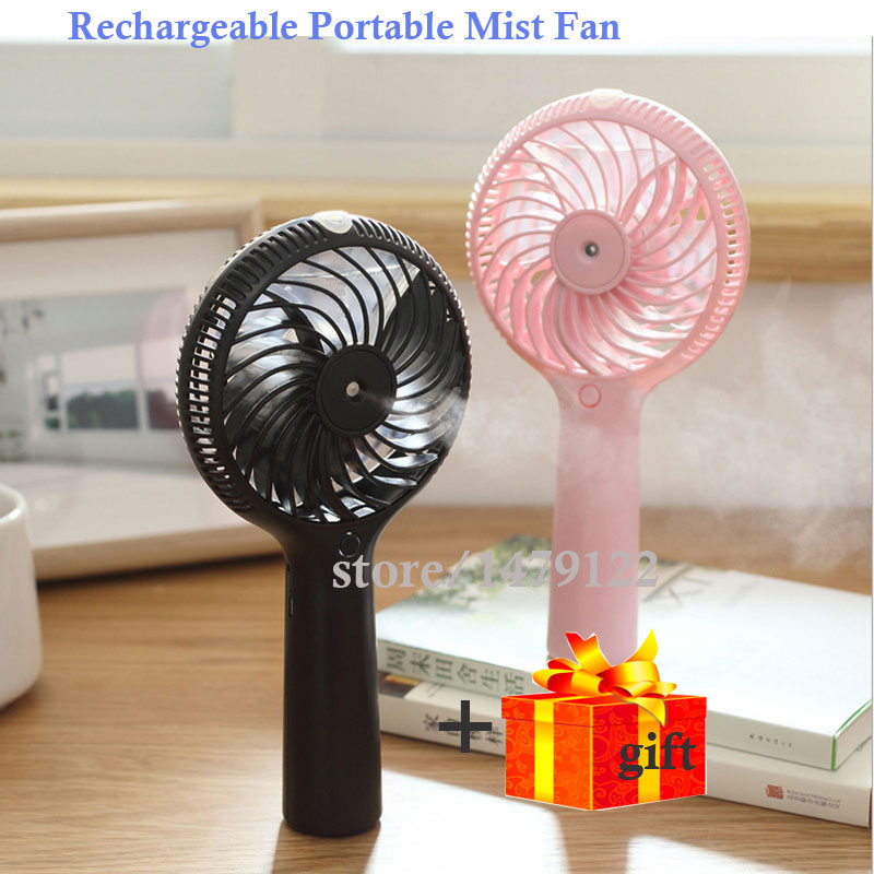 Handhold FanLatest Rechargeable mini fan cold water Humidification handheld fan mini humidifier as air conditioning Best Gifts(China (Mainland))