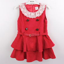 Baby Girl Clothes 2016 Dress Girls Kids Dresses Red 4 8Y Casual - Nova Brand Store store