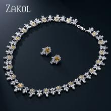 ZAKOL Top Quality Semi-precious Stone Flower Shape Jewelry Sets Trendy Silver Plated Ladies Jewelry For Party Bijoux FSSP122(China (Mainland))