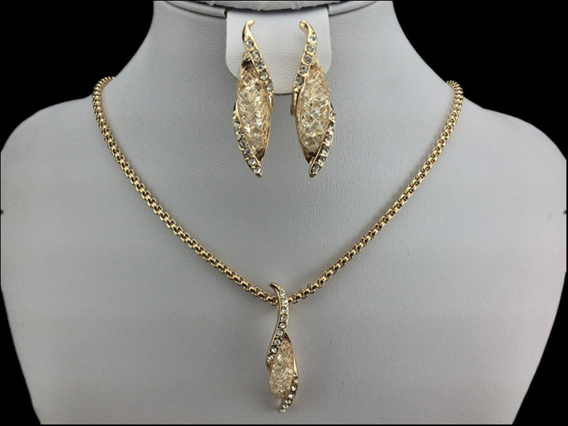 EEL Exquisite small adorn article 18k gold mesh Plated Jewelry Sets ,Earrings /Necklace,Promotion,Nickel Free, Factory price  -  fashion jewelry store store