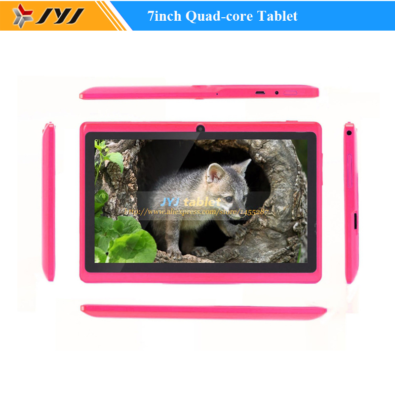 Pink Allwinner A33 7inch Quad Core Google Android 4.4 Tablet PC Dual Cameras WiFi 1.6GHz ROM 16GB RAM 512MB Tablets(China (Mainland))