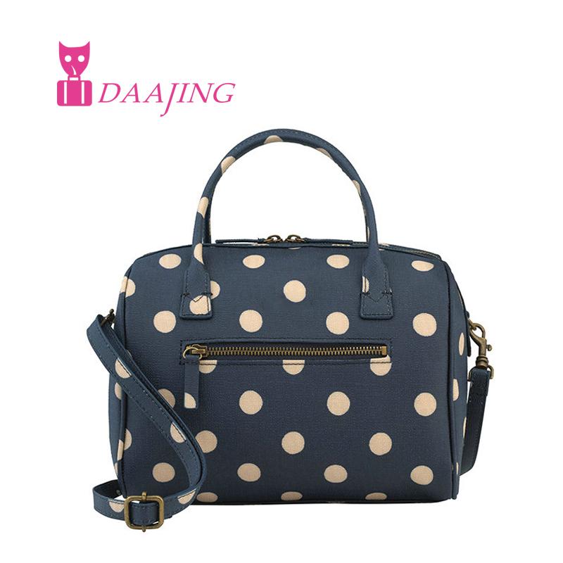 2016 New florals Shoulder Messenger Bag fashion cross body bag blue polka dot canvas shoulder travel bags Free Shipping(China (Mainland))