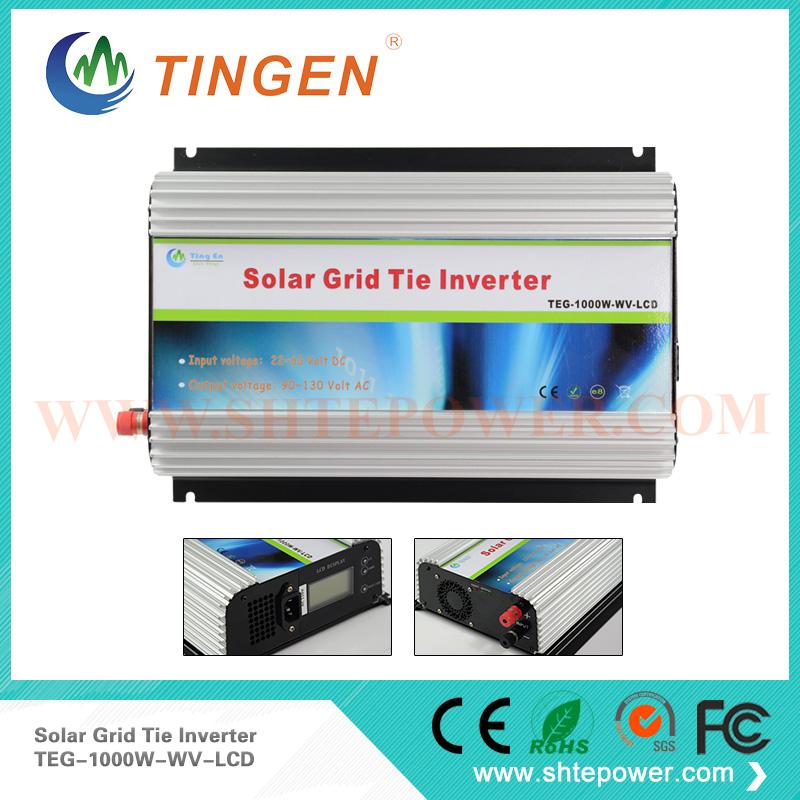 1000w grid tie solar inverter dc 24v 36v 48v to ac 110v /220v grid tie inverter 1kw solar panel(China (Mainland))