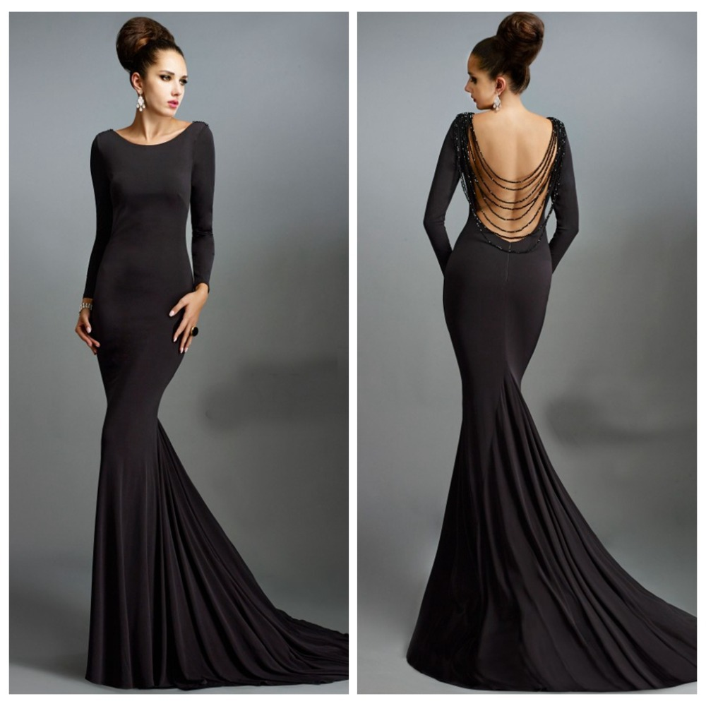 Black Backless Prom Dresses 2016 - Long Dresses Online