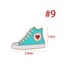 1Pcs Lucu Bros Pin Fashion Sepatu/Star/Es Krim/Mata Desain Logam Bros Buttton Enamel DIY Kartun Yang Indah Perhiasan Pin(China)