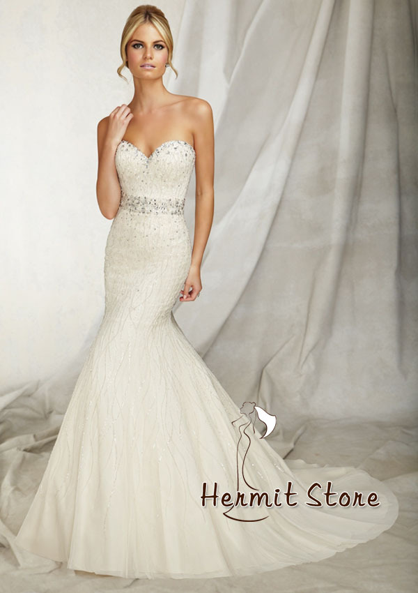 zm0018 strapless mermaid wedding dress bling wedding On strapless wedding dresses with bling