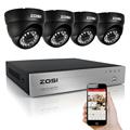 ZOSI HD 4CH CCTV System Set 720P DVR 4PCS 1 0MP 1280TVL IR Outdoor Security Camera