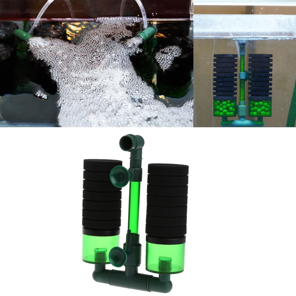 Aquarium fish tank china - Aquarium Fish Tank Biochemical Sponge Filter Air Pump Double Head W Suction Cup China