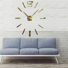 Free shipping 3D DIY clock Modern Wall stickers digits interior room wall clock clock Home Decoration(China (Mainland))