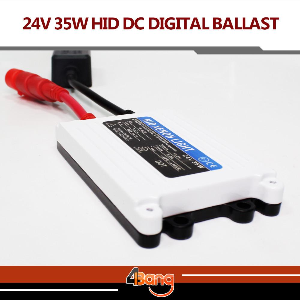 Free shipping 1pc 24V DC 35W HID slim digital xenon ballast hid ballast car ballast Replacement