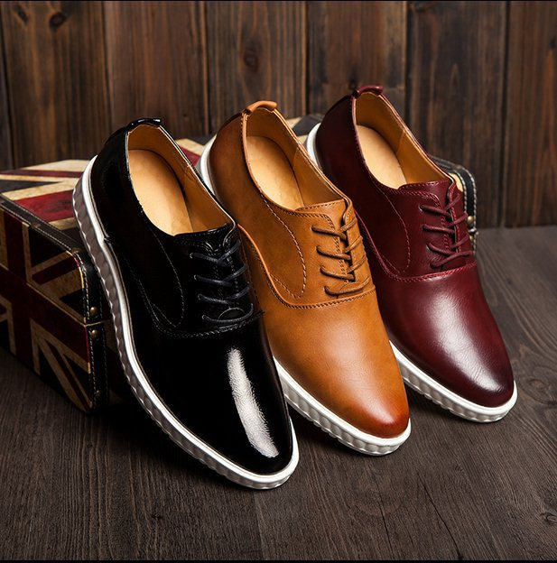 Autumn 2015 Size 38-44 M1057-1 Men Brock Platform Genuine Leather Oxfords Hairstylist Fashion Height Increasing Leather Shoes<br><br>Aliexpress