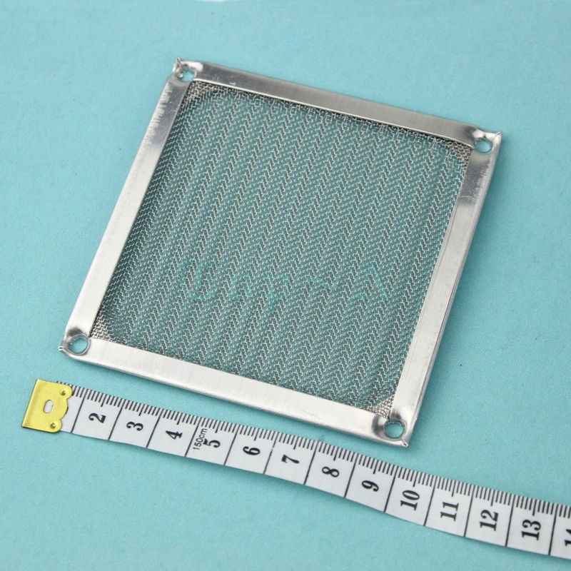 wholesales 50pcs/lot Silver Aluminum Computer 90MM Thick Dustproof Dust Filter DC AC Fan Strainer(China (Mainland))