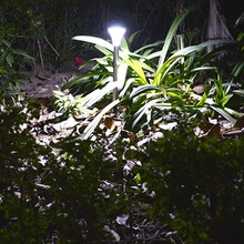 Edelstahl 13 Stücke LED solarbetriebene PIR Infrarot-Bewegungsmelder Licht Sensor Weiß Licht Lampe Landschaft Außenbeleuchtung(China (Mainland))