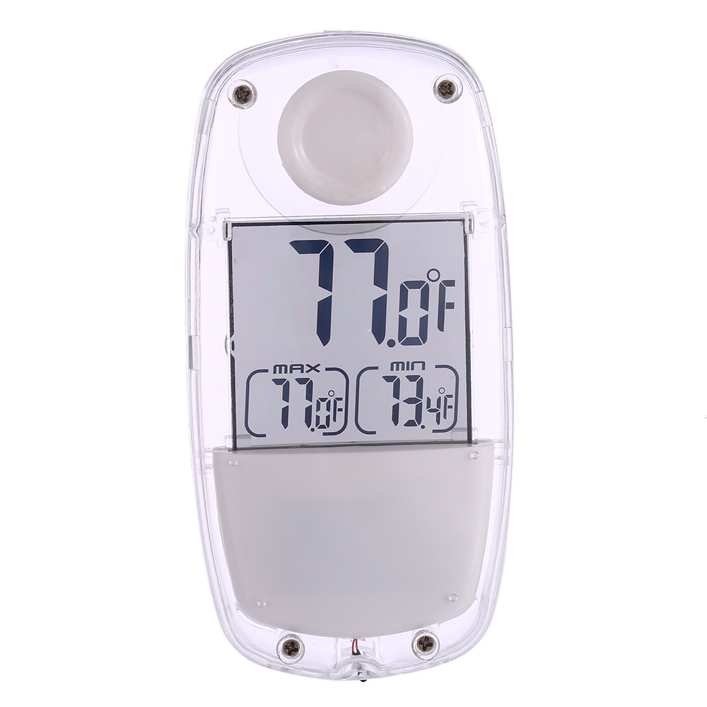 Termometro Digital LCD Solar Powered Suction Cup Thermometer Temperature Measurement Max./Min. Record Weather Station Thermostat(China (Mainland))