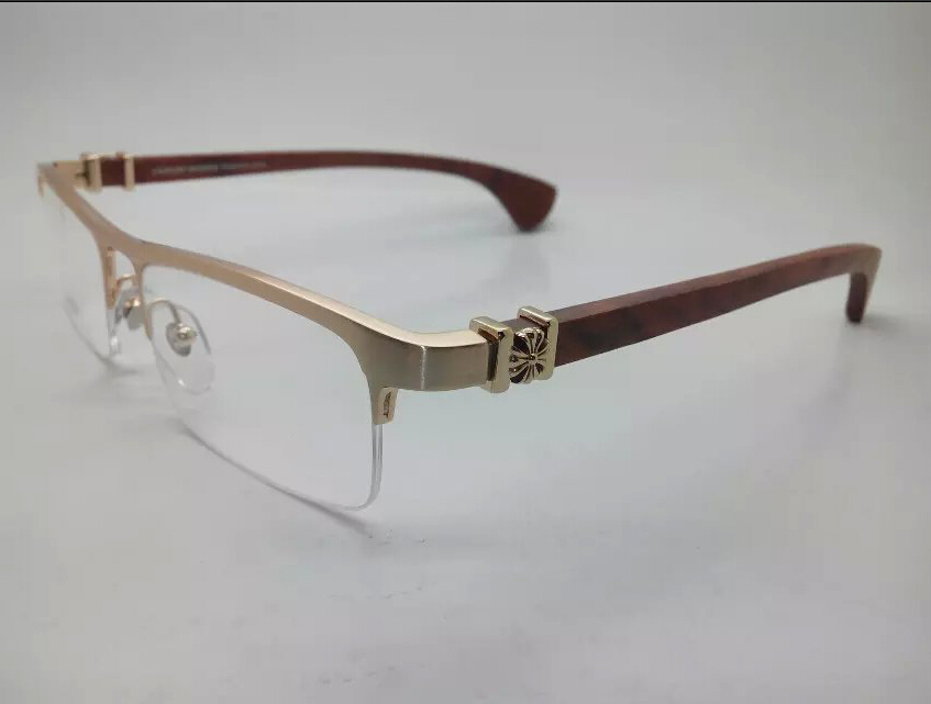 Wood Frame For Glasses : 2015New gold luxury solid wood quality rimless eyeglasses ...