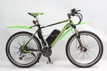2015 Latest Green Electric Bike 36V 350W MOSSO Ebike with 36V 11AH Li-Po Battery+Hydraulic Disc Brake For Electric Bicycle(China (Mainland))