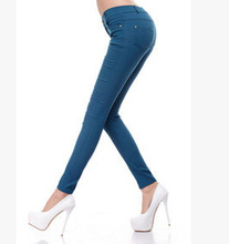 2015 Spring and Summer Women's Slim Pencil Pants Candy Colors slacks girl's Stretch Trousers Elastic big Size thin Leisure pants(China (Mainland))