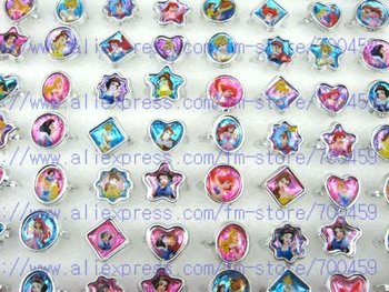 job lot of 72pcs Cute Princess new popular Fancy Ring in Box gifts + free shipping