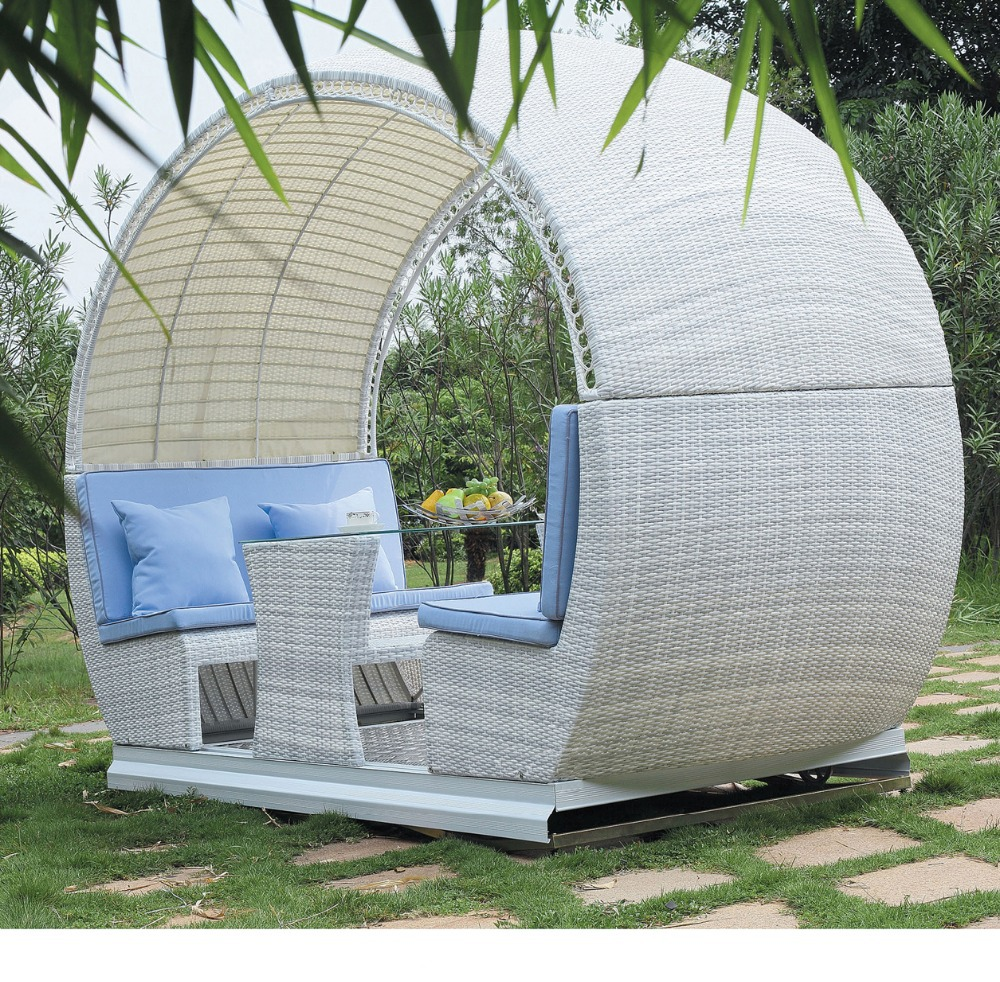 2015 high class garden round gazebo swing rattan tent hotel outdoor pavilion - Rocking chair jardin ...