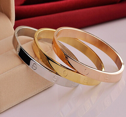 Bracelets & Bangles Top Quality Fashion Lady Gold/Rose Gold/Silver Color Carter Bracelet Bangles Metal Jewelry For Women G56(China (Mainland))