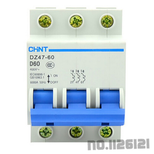 Cheaper price good quality l7 chint circuit breaker DZ47-60 3P D60 Free shipping(China (Mainland))