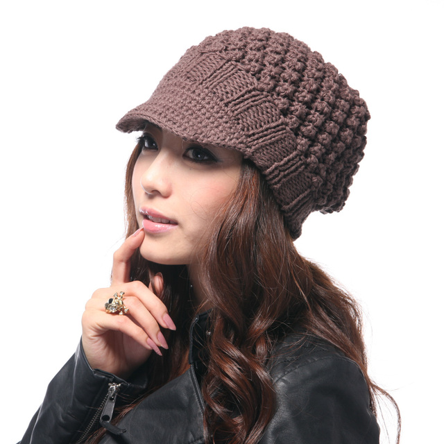 free shipping, Topcul plain jacquard knitted hat, knitted hat, female autumn and winter warm hat, female