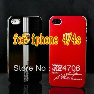 Hot sale Embossment back case for iphone 4g 4S Cool metal cover skin free ship