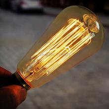 ST64 Edison Lampen E27 Glühlampen Lese-Glühlampe Edison-Birne Leuchten e27 40 Watt/60 Watt Retro Edison Art-Licht-Lampen 110 V/220 V(China (Mainland))