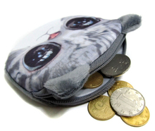 2015 New Style 11cm 10cm Gift Cute Dog Face kitty Zipper Wallet Kids Coin Purse Pouch