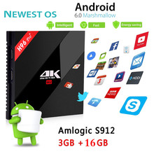 Buy Tv box Amlogic S912 Octa core set-top box H96pro+ Android 6.0 tv box 3GB 16GB tv receiver 2.4GHZ/5.8GHZ WIFI HDMI media player for $78.00 in AliExpress store