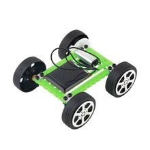 DIY solar toy car assemble solar vehicle yourself mini solar energy powdered toy racer child kid solar car Education kitVB217 P (China (Mainland))
