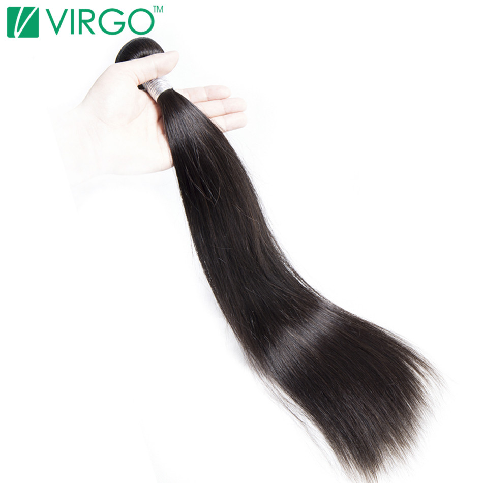 V Only Virgo Malaysian Straight Human Hair Extensions 100% Natural Remy Hair Weave Bundles Can Be Dyed And Bleached Full Ends(China (Mainland))