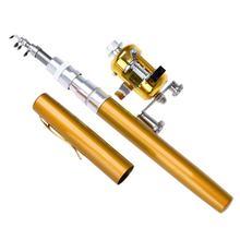 Портативная карманная телескопическая мини-рыболовная удочка в форме ручки в сложенном виде с катушкой(China)