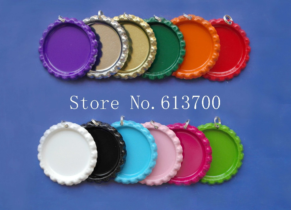 Wholesale 100pcs 1 flattened bottle caps with holes for for Bottle cap hat diy