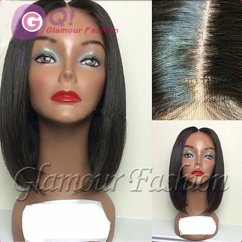 Фотография GQ wholesale Brazilian short bob wigs for black women short human hair lace wigs glueless lace front bob wig baby hair bleached