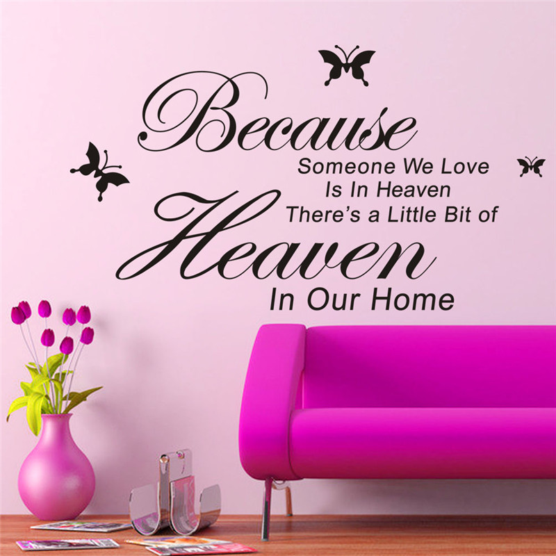 Cozy DIY Removable Art PVC Vinyl Quote Wall Stickers Decal Mural Home Room Decor