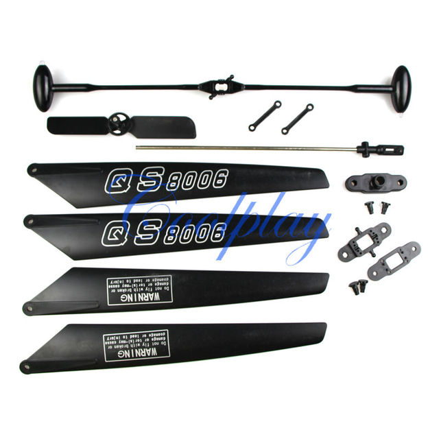 Free Shipping QS8006  Rc Helicopter Replacement Complete  Quick Wear Spare  Parts for G.T.Model QS8006