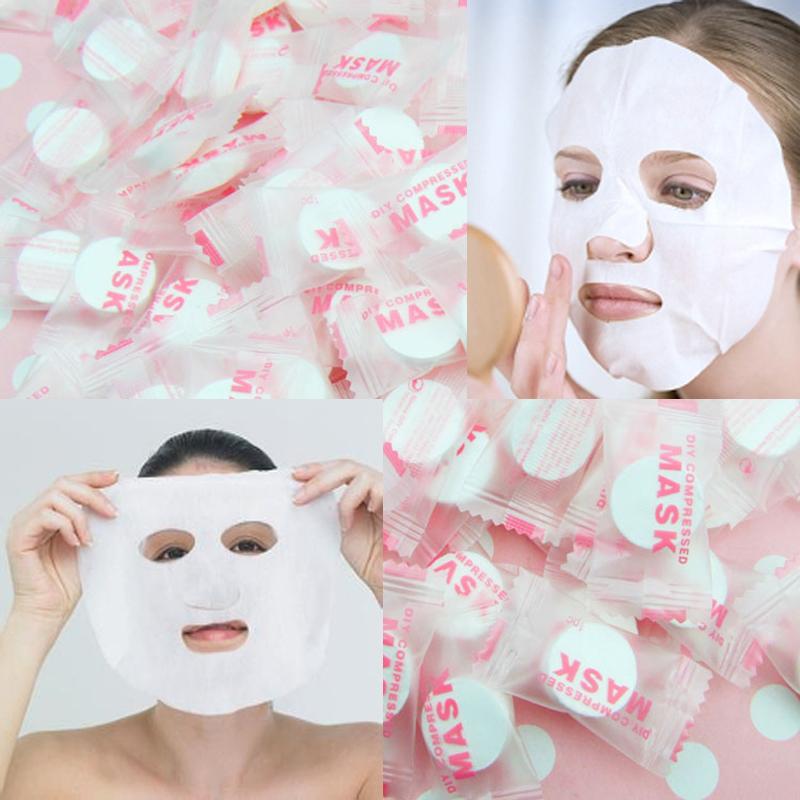 100pcs/bag Plant Fiber Skin Care DIY Facial Face Compressed Mask Paper Diy Tablet Masque Treatment Face Mask(China (Mainland))