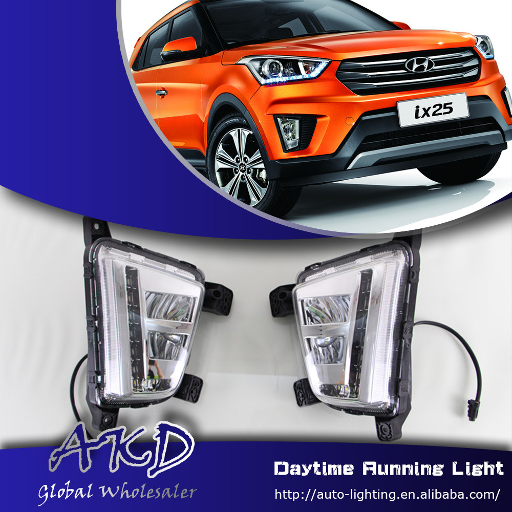 One-Stop Shopping LED Daytime Running Light for Hyundai Creta DRL New IX25 LED DRL Car Fog Lamp Automotive Accessories(China (Mainland))