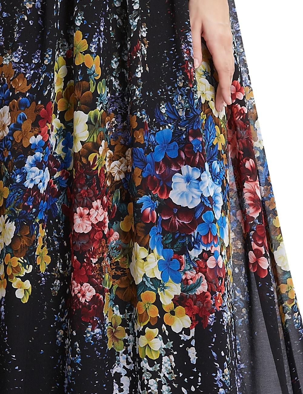С тех довольно вечерние платья HE08724BK женщин сексуальный черный рукавов длинные шею печатных ну вечеринку вечерние платья 2016 новое поступление