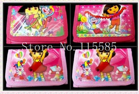 Wholesale 36 pcs Dora Girl Coin Purses Wallets Bags Party Gifts Free Shipping QB27(China (Mainland))