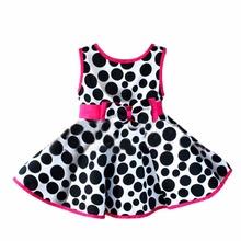 Summer Baby Girls Leopard Big Circle Bow Princess Dress Baby Girls Dress