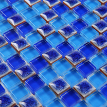 deep blue porcelain kiln ceramic crystal glass and stone mosaic tiles HMCM1055 kitchen backsplashl bathroom floor ceramic wall