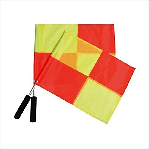 Retail Watreproof Fastness Fluorescent Sponge Handle Football Training Special Signal Flag Soccer Referee LinesmanFlag(China (Mainland))